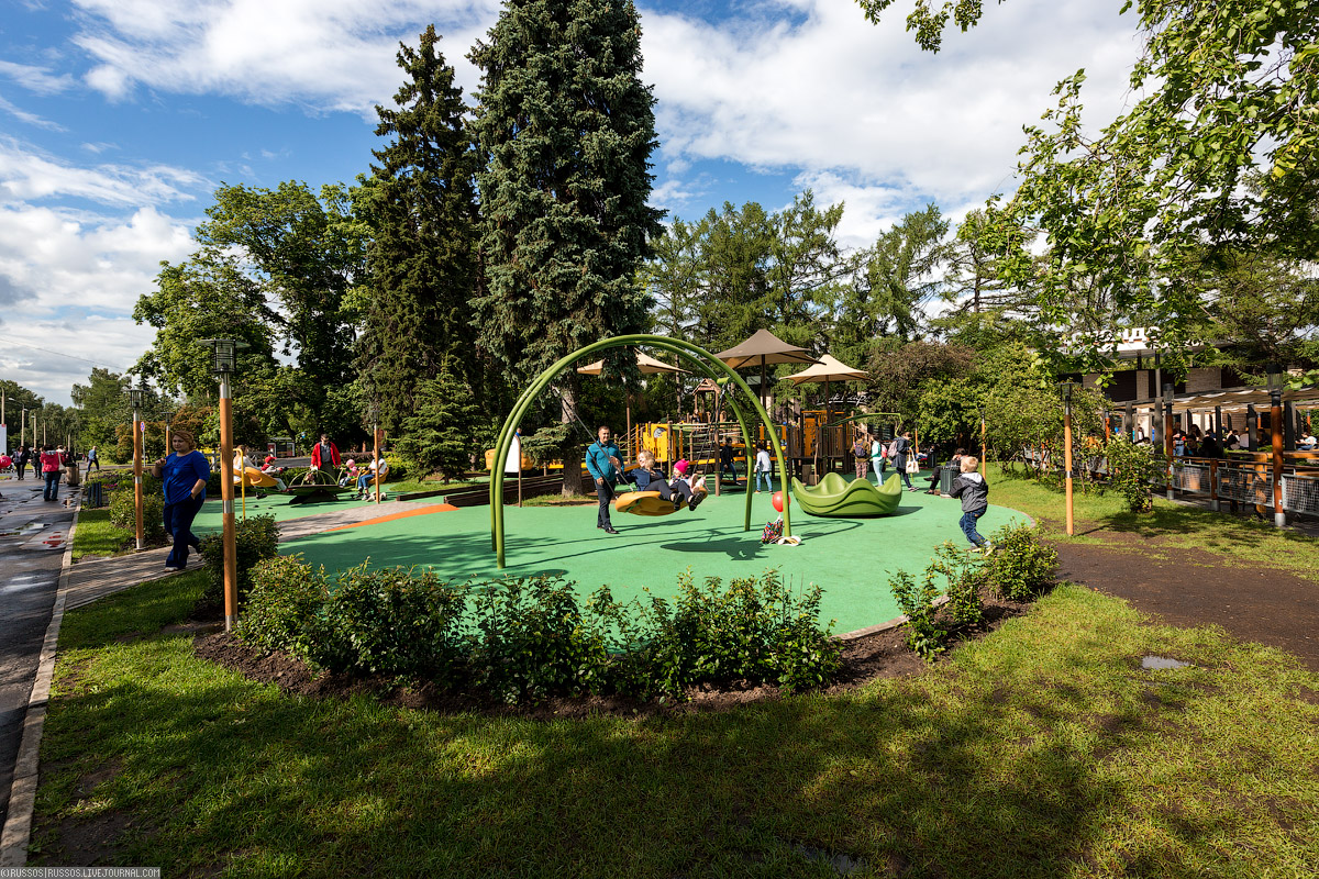 После реконструкции территория Выставки будет включать семь парковых зон: Центральную аллею, Парк ат