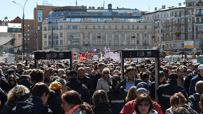 Генпрокуратура предостерегла отпроведения акции оппозиции наТверской улице столицы