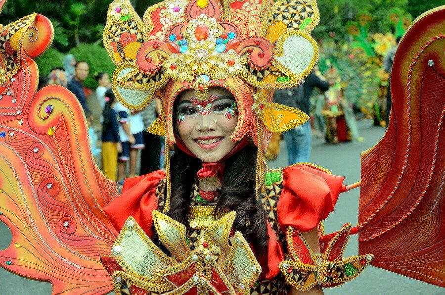 Девушка в Индонезии