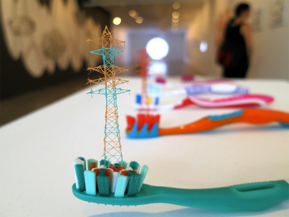 Incredible Miniature Towers made from Toothbrush Bristles