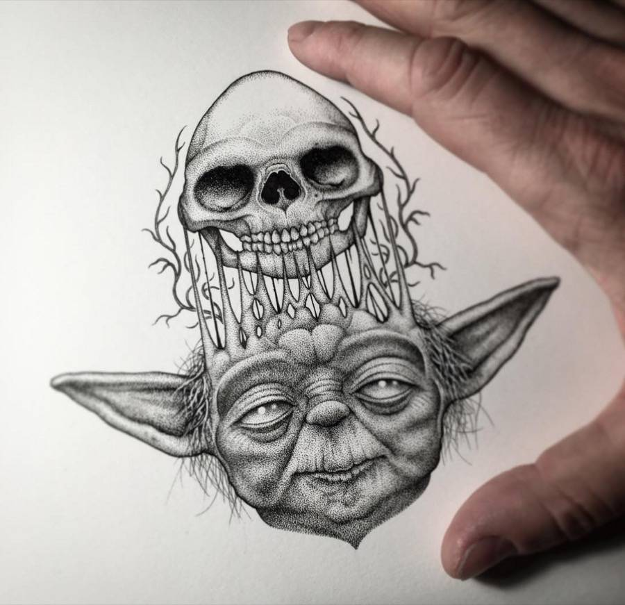 Star Wars Miniature Illustrations Made with Tiny Dots