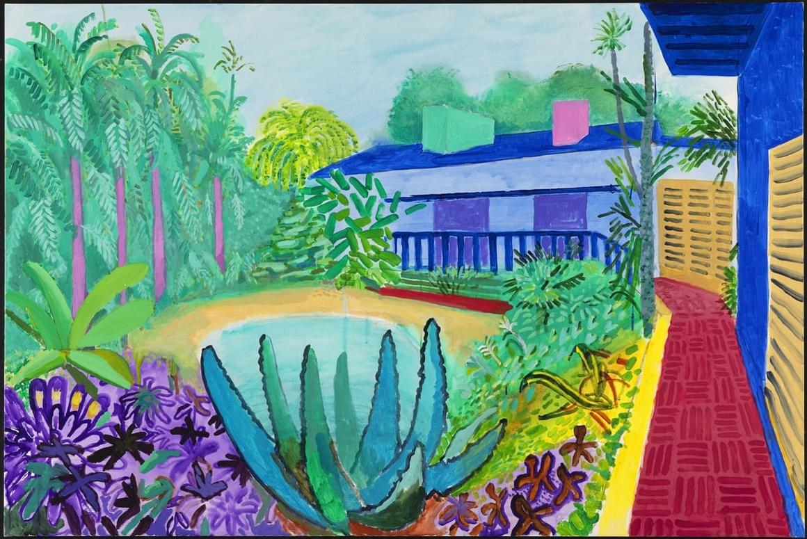 David Hockney Garden, 2015