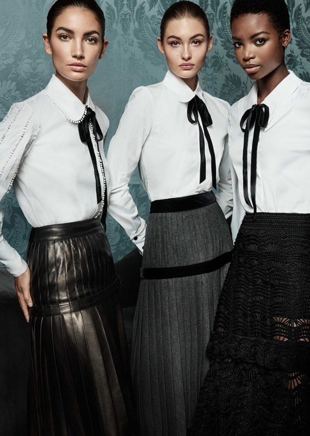 Lily Aldridge, Grace Elizabeth & Maria Borges for Carolina Herrera FW17