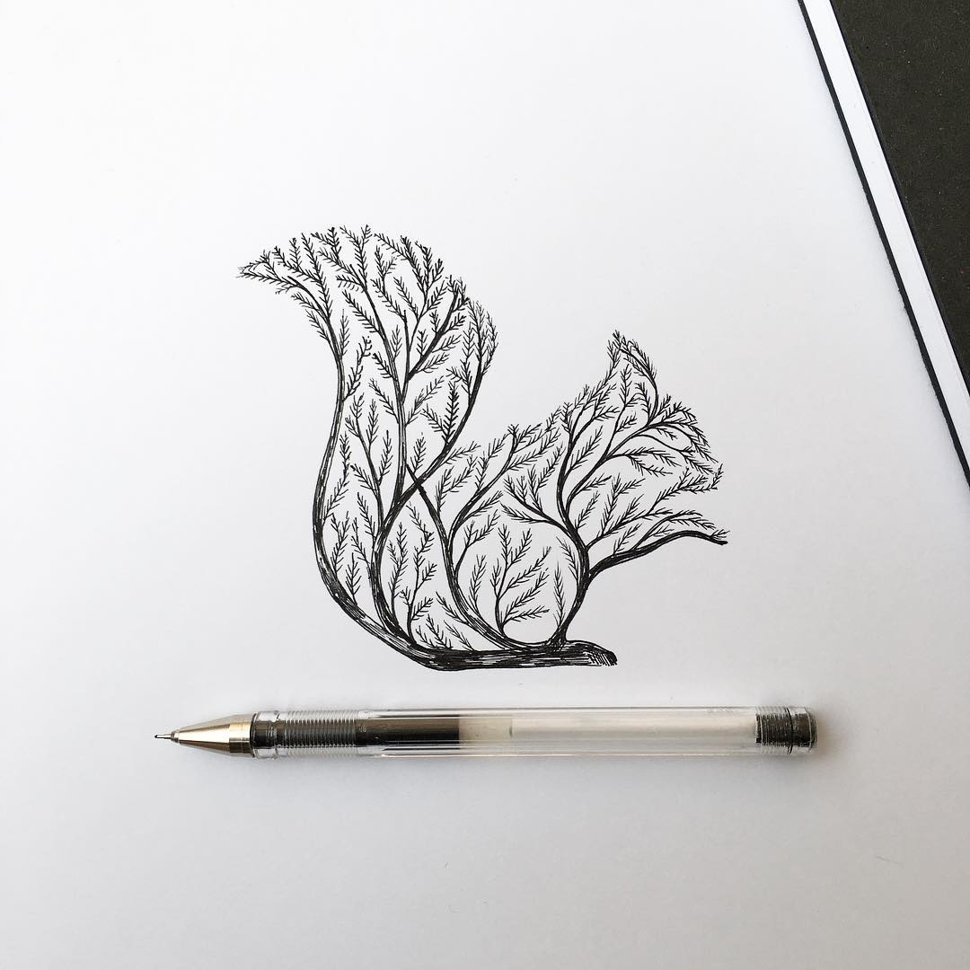 Thin Ink Illustrations by Alfred Basha