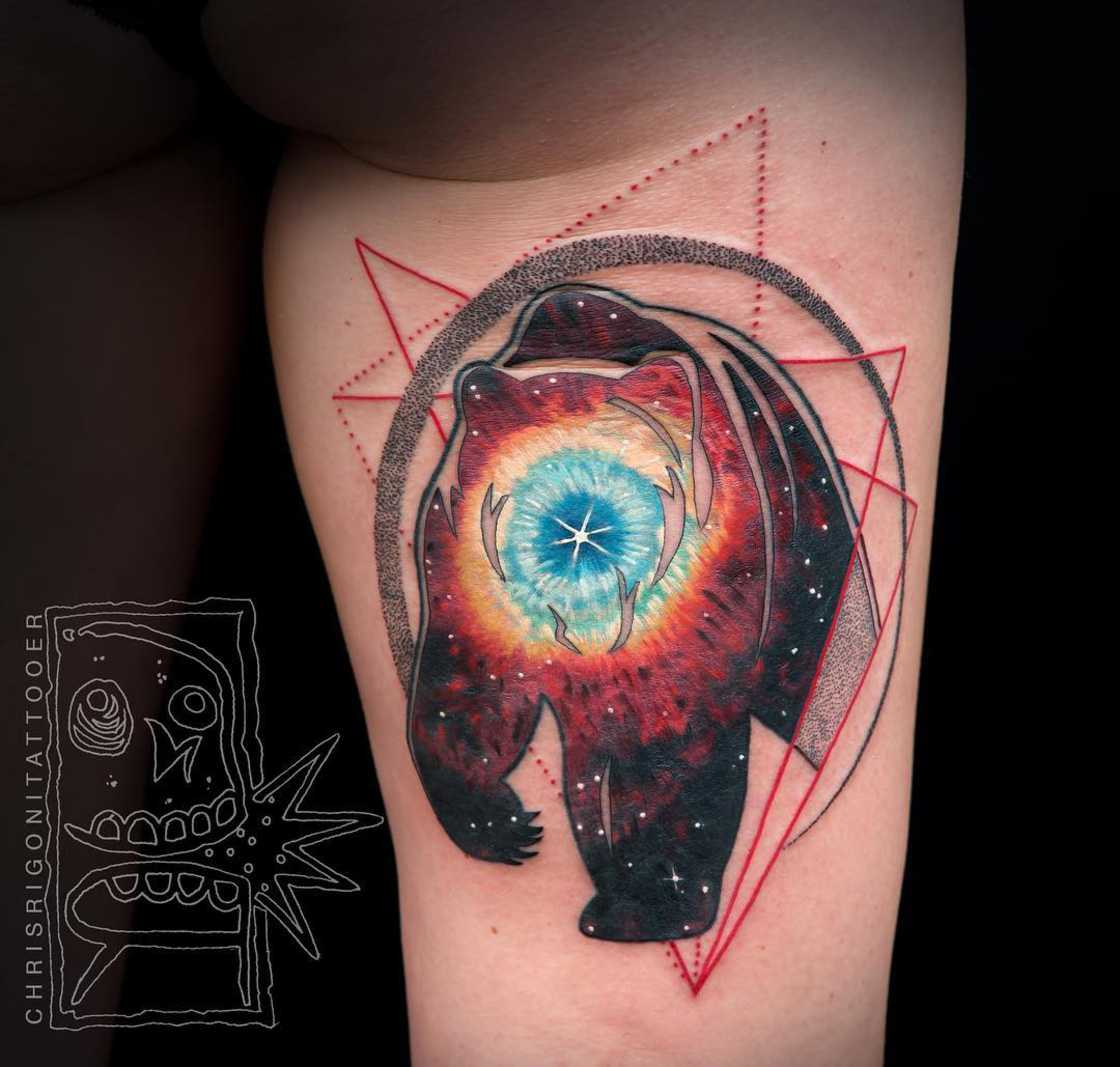 As tatuagens ultracoloridas de Chris Rigoni