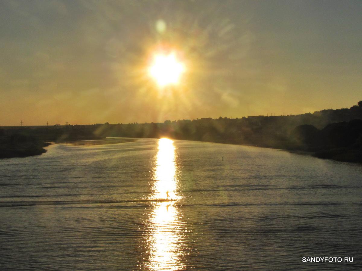 Вейкбординг по реке Увельке