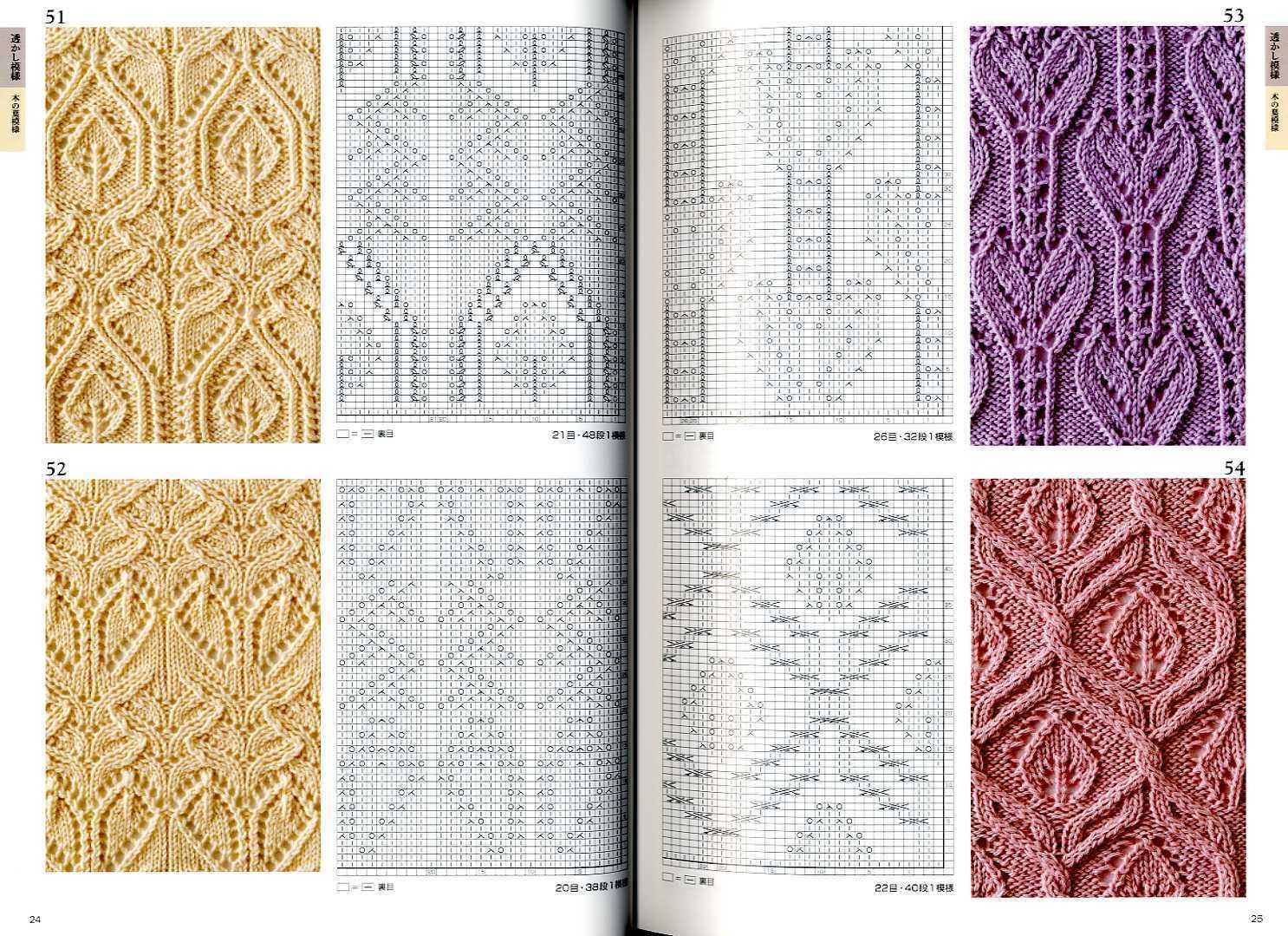 Каталог вязаных спицами узоров узоров для вязания на спицах ирландские 37