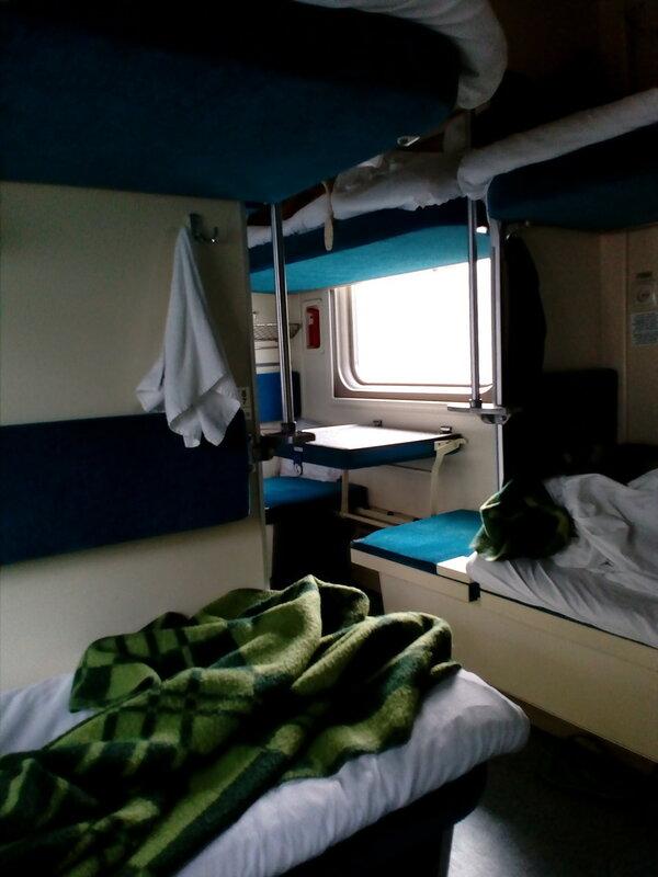 спальная полка поезд