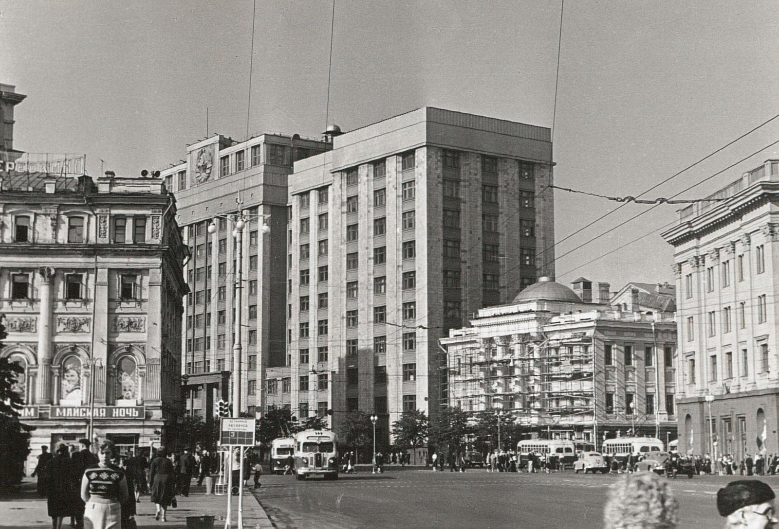 Вид на здание Совета Министров СССР