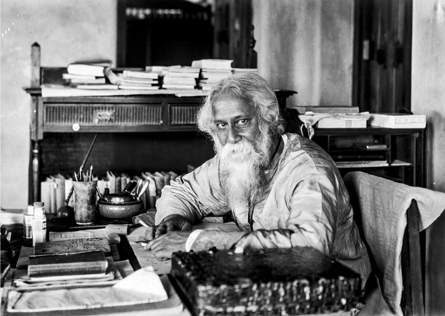 1315. Индийский писатель и лауреат Нобелевской премии Рабиндранат Тагор