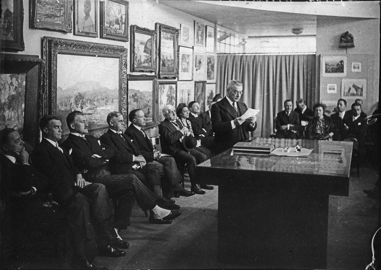 Торжественное открытие павильона города Париж (Музей современного искусства 24 мая 1937