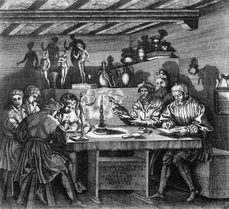 Антонио деи Муси. Академия Баччо Бандинелли. 1531.jpg