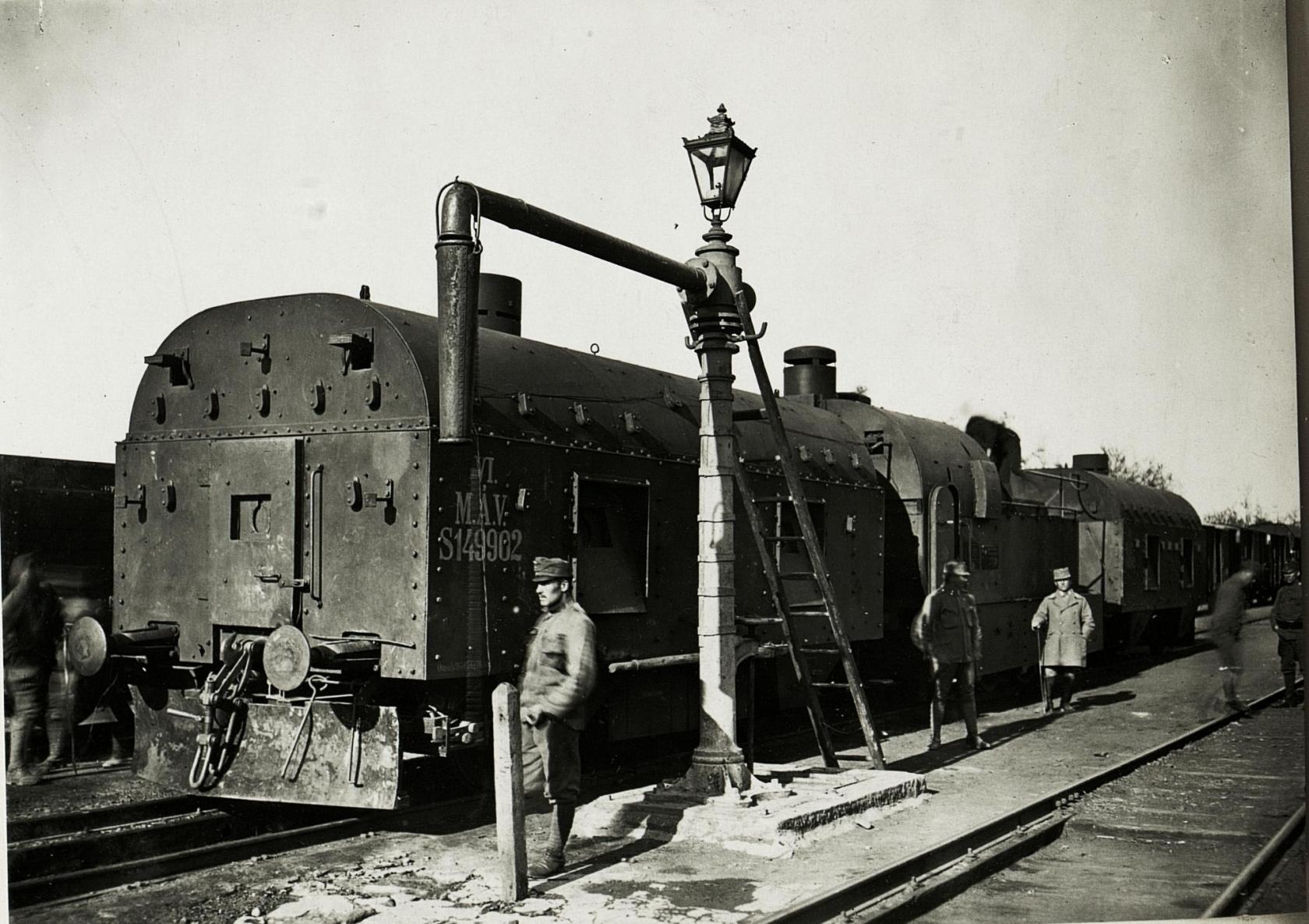 Panzerzug am Bahnhof in Ciezow, 21. Mai 1917.