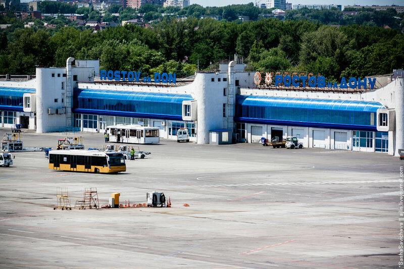 Аэропорт Ростова-на-Дону с пожарной вышки | Споттинг в ROV/URRR