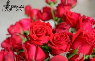 Открытка. С днем поцелуя! Поцелуй. Розы