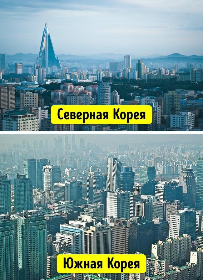 15поражающих изменений вСеверной иЮжной Корее за70лет разъединения (15 фото)