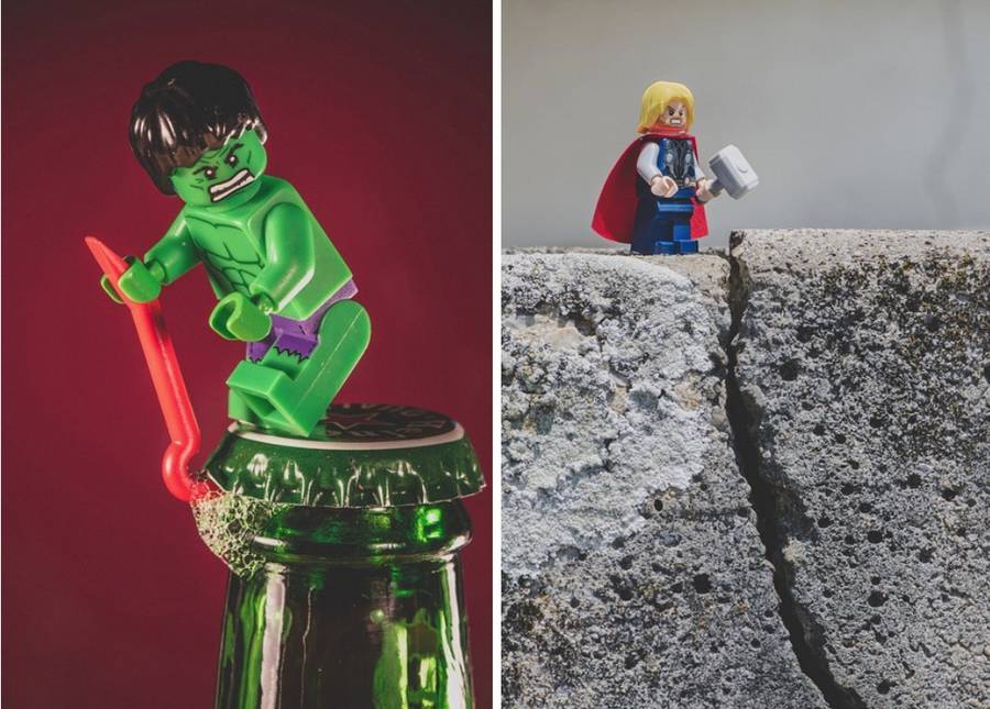 LEGO Scenes with Pop Culture Figurines