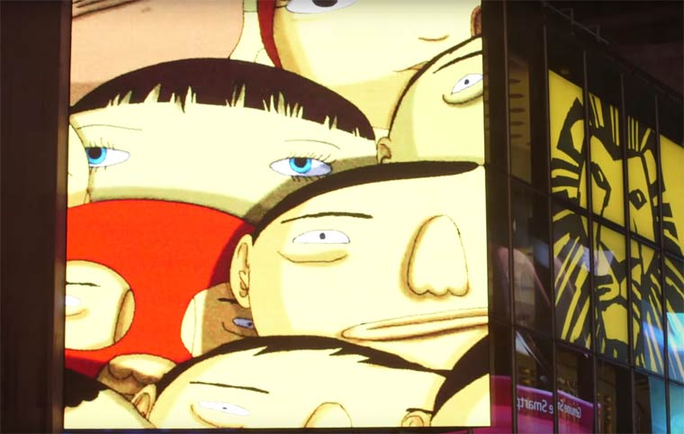 Street Art - Os Gemeos is invading the iconic Time Square billboards