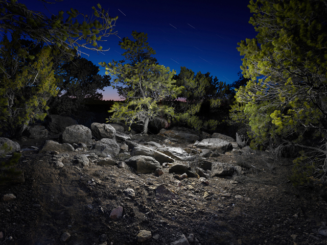 Night: Surreal Landscapes Lit with an LED Flashlight by Harold Ross