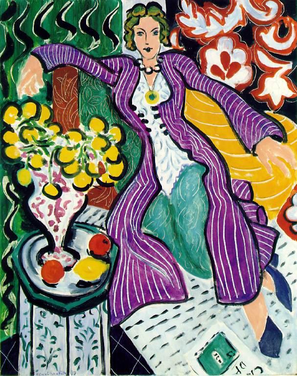 Henri Matisse (1869-1954), Woman in a Purple Coat Purple Robe and Anemones 1937 Baltimore Museum of Art.jpg