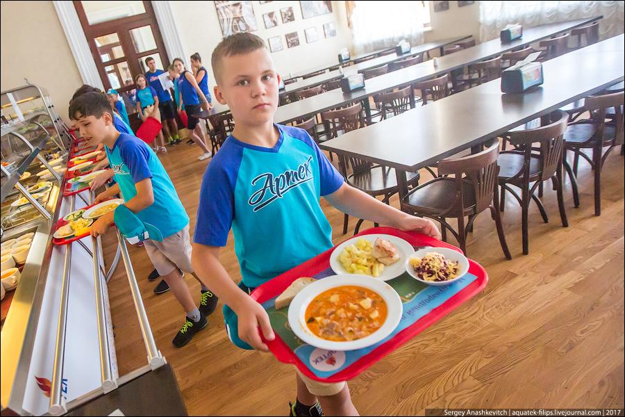 Чем кормят детей в Артеке
