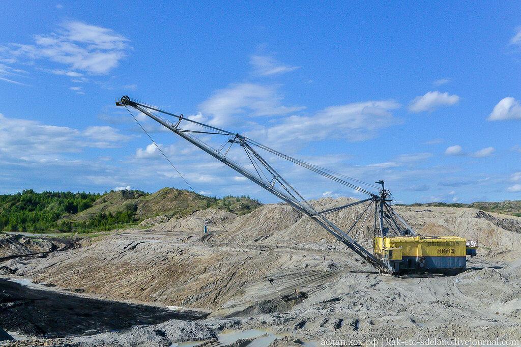 Как добывают бурый уголь