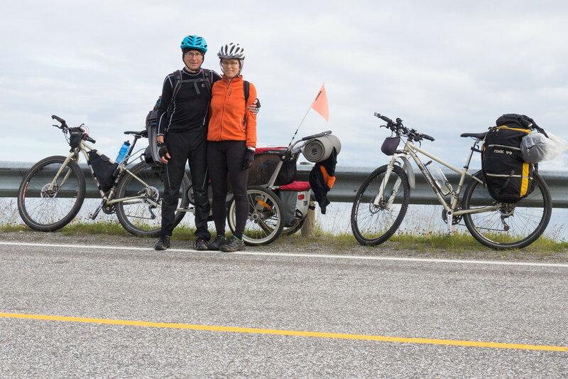 велопоход с прицепом thule chariot cougar по норвегии