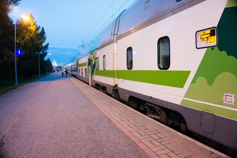 финский двухэтажный поезд кемийоки - хельсинки (Kemijoki - Helsinki)