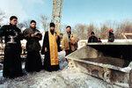 29 января 1998 г. Молебен перед началом бетонирования.
