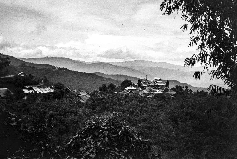 888. Вид горной деревни