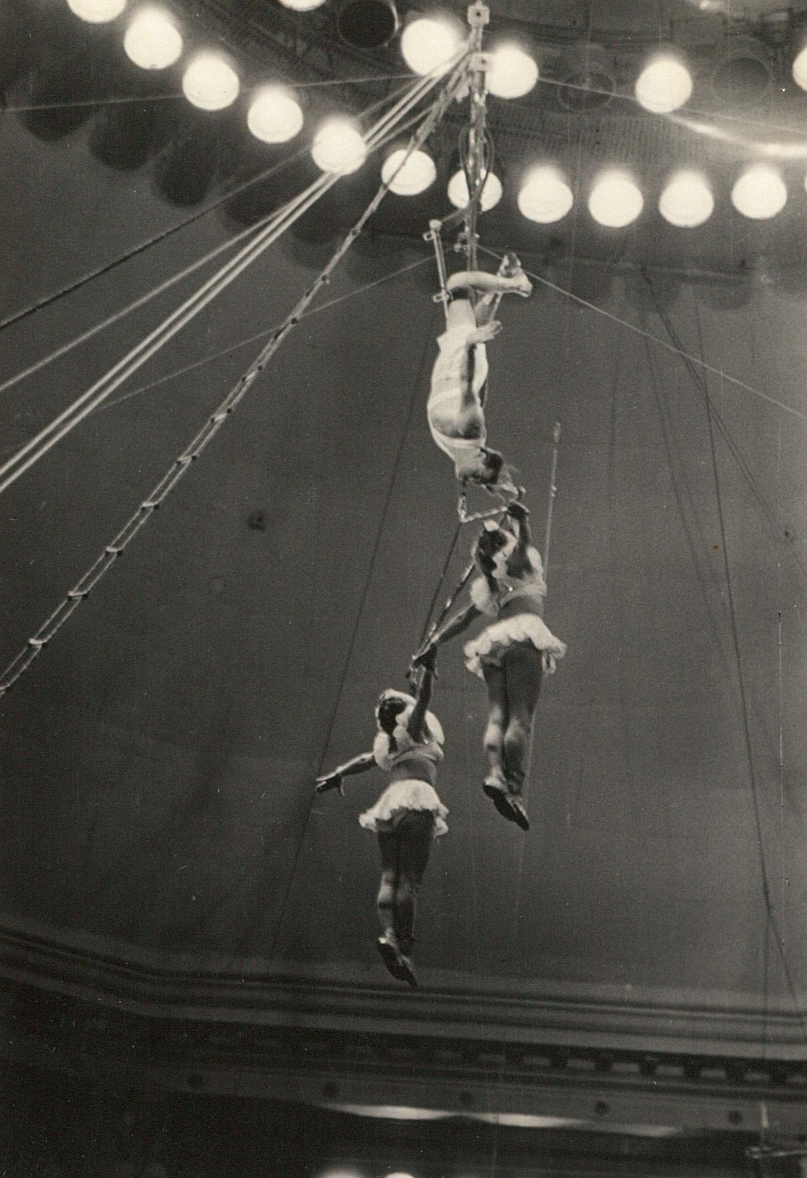 Цирк. Акробаты на трапеции