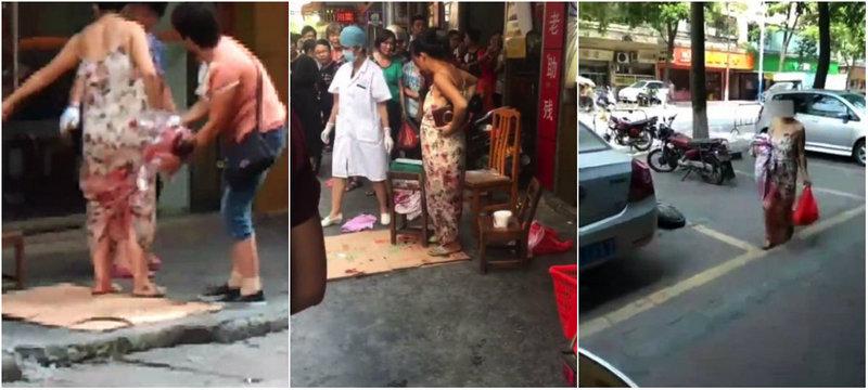 Во время шоппинга китаянка родила и как ни в чем не бывало побрела домой