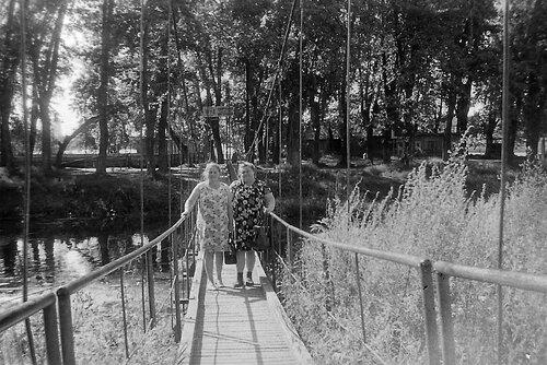 Подвесной мост на остров-сад