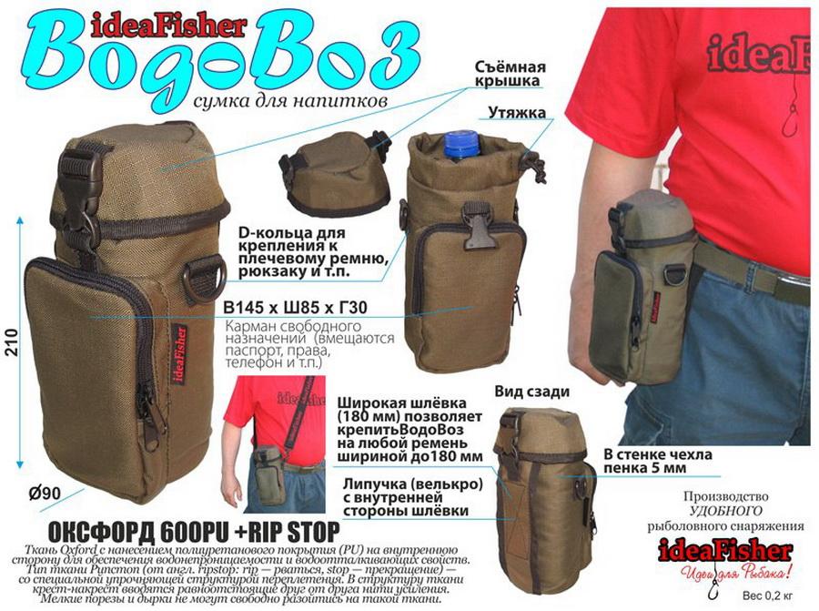 Купить ideaFisher ВодоВоз сумка органайзер для воды и термоса