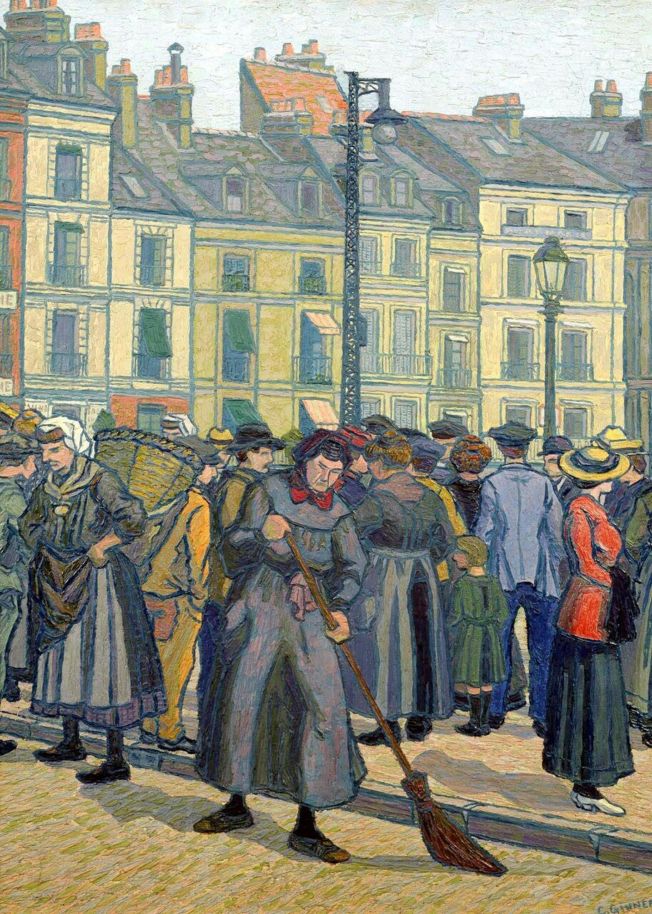 La Vieille Balayeuse, Dieppe 1913 by Charles Ginner 1878-1952