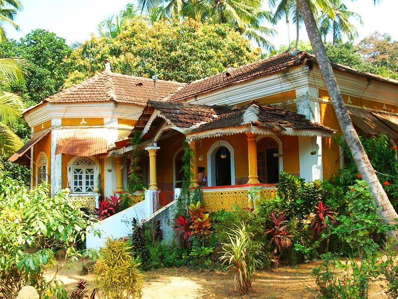 Дом зажиточной семьи в Индии.