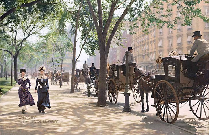Мэдисон-сквер, 1900 год.