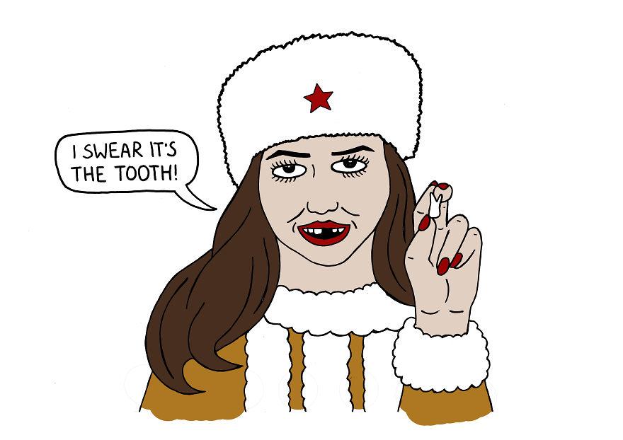 Русский человек не просто заверит в своей правоте и честности, а предоставит в подтверждение свой зу