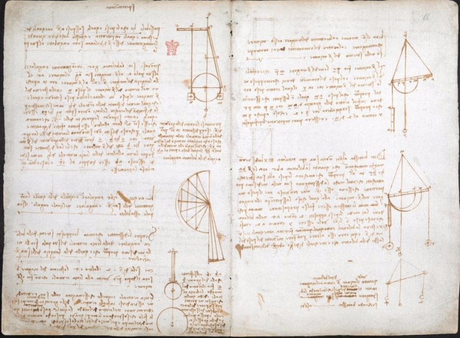 570 оцифрованных страниц из дневников Леонардо да Винчи опубликованы онлайн