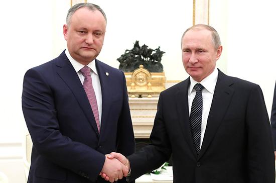 Путин: Российская Федерация иМолдавия вперспективе могут стать стратегическими партнёрами