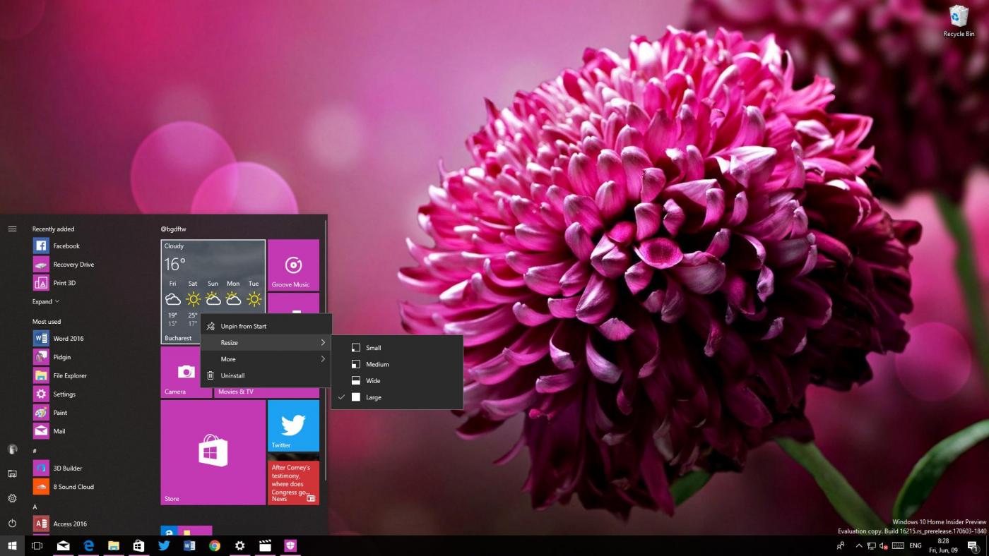 Microsoft внесла изменения вWindows 10