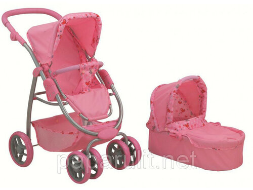 8567C коляска игрушечная трансформер 2в1 светло-розовая.jpg