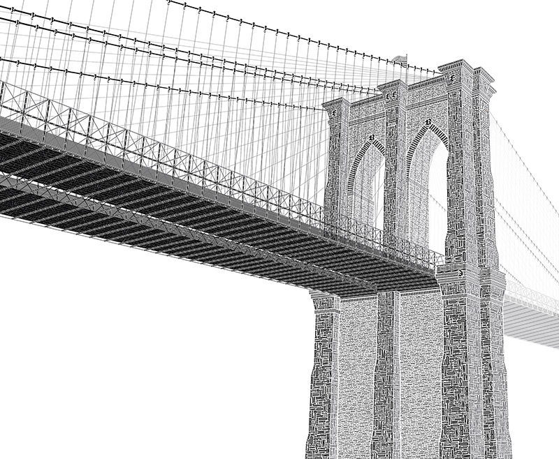 Cameron Moll's Typographic Letterpress Print of the Brooklyn Bridge (6 pics)