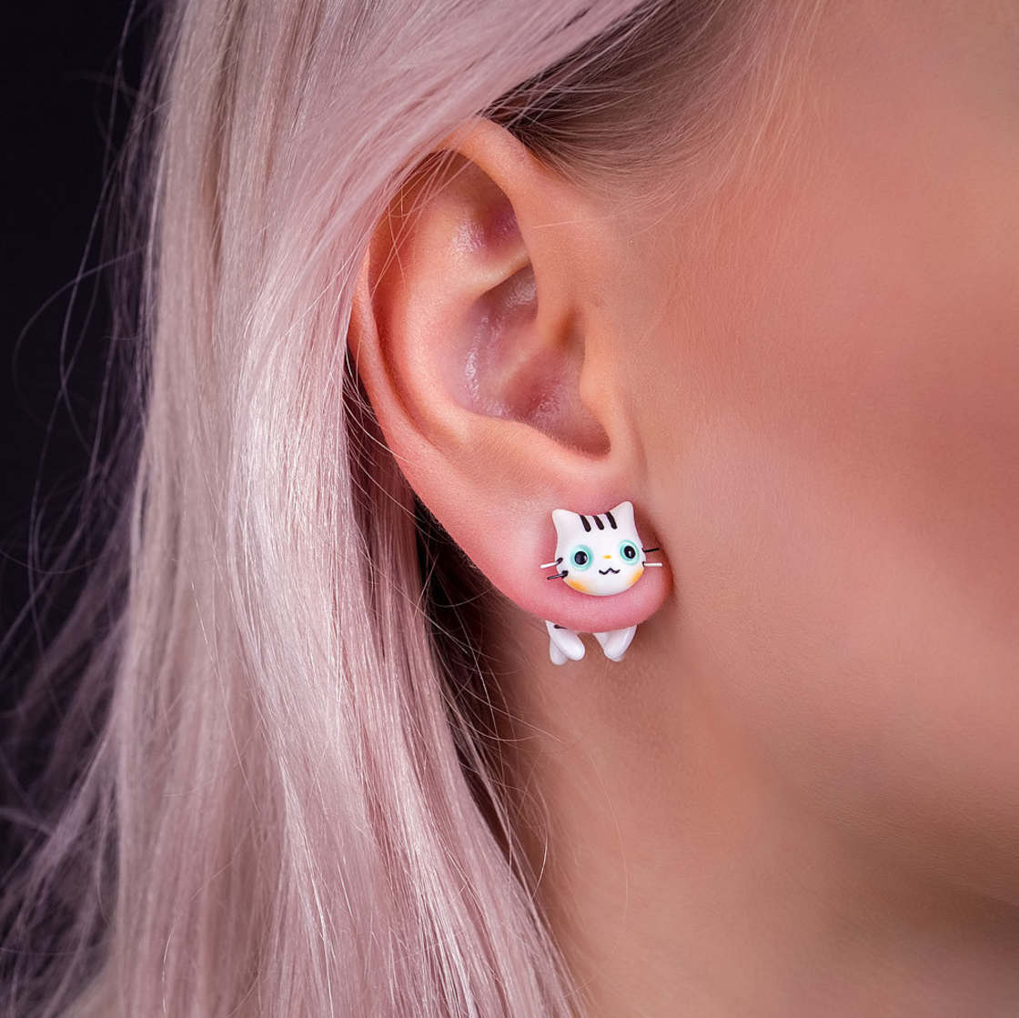 Cats and Pop Culture - The lovely earrings by CatMade