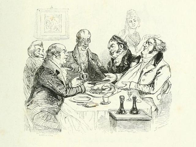 Все было, вместе с отличным обедом и винами не от русских виноторговцев, а прямо заграничной разливки, очень благородно, просто и весело.
