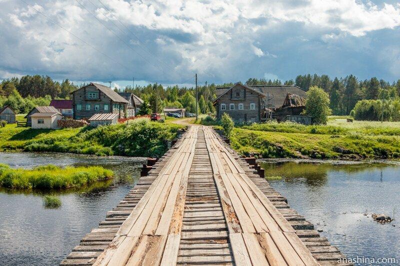Мост через реку Пяльма, Карелия