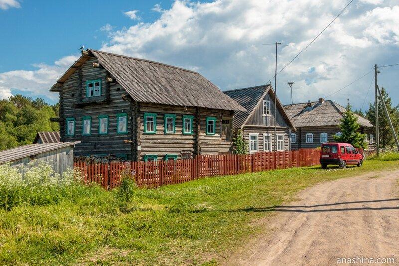 Старые дома в Пяльме, Карелия