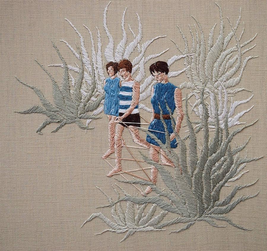 Embroidered Scenes by Michelle Kingdom