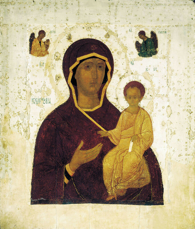 Смоленская икона Божией матери  Дионисий, 1482 год. Государственная Третьяковская галерея, Москва