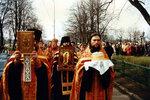 Пасхальный молебен с крестным ходом.
